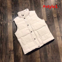 Wholesale men s jacket big collar resale online - 2019 Canada Brand Mens Vests Canada imported goose down big goose down jacket male short section Slim vest vest women thick warm couple