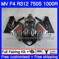 Wholesale fairing agusta resale online - Bodywork Flat black stock For MV Agusta F4 R312 S R CC kit HM R MA MV F4 Fairing