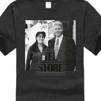 3d fotoğraf baskısı toptan satış-Kişilik Marka Erkekler Serin Bill Clinton Monica Lewinsky Fotoğraf 3d Baskılı Tee Gömlek erkek Moda Kısa Kollu Tops