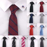 ingrosso legami ad alta densità-Fashion Solid Neck Tie for Man 1200 Pin High Density Luxury Tie Poliestere Solid Plain Plain Tie Wedding Sposo Regali