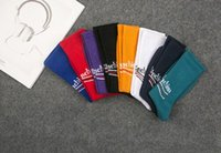 волновые носки оптовых- Designer Socks Mens Womens Brand Stockings Letter Wave Print Paris Skateboard Stockings Homes Streetwear Socks