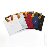 ingrosso camicia di polo gialla sottile-2019 luxurys Italia designer polo shirt magliette LuxurysBrands ricamo uomo High street fashion polo cavallo t-shirt mabi Marche polo