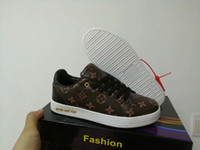 Wholesale boys lace shoes resale online - Brand letter L and V new sport Suede Walking Hiking Shoes running shoes Fall fashion boys flat casual grils sneakers