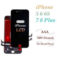 display 5s venda por atacado-Alto brilho grau a +++ para iphone 5s 6 6 s 7 7 plus 8 8 plus display lcd assembléia digitador da tela de toque livre dhl