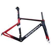 rote carbon fahrradrahmen großhandel-New Design Fahrradrahmen Carbon Road 2018 rot schwarz Di 2 100% Vollcarbon Aero-Rahmenset mit BB86