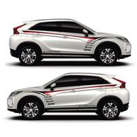 ingrosso auto adesivi pajero-TAIYAO car styling adesivo per auto sportiva per Mitsubishi ECLIPSE CROSS Pajero Outlander Zinger Eclipse