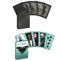 yetişkin yenilik setleri toptan satış-Oyun thrones kart oyunları poker set fotoğraf ateş ve buz iskambil kartları şarkı yenilik poker mevcut cosplay kidsadults koleksiyonu sahne