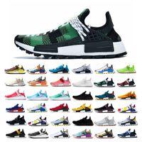 мужская обувь летняя обувь оптовых-2019 NMD Human Race Мужская Trail кроссовки Pharrell Williams HU Pk Runner Удобная мода Свет лета тапок женщин