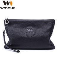 Wholesale wallets clips resale online - Fashion2019 Will Genuine Capacity Men s Catch Leisure Time Hand Take Small Sheepskin Soft Leather Thin Clip Package Tide