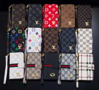 tampa da tampa da bolsa venda por atacado-Moda de luxo carteira phone case para samsung s10 s9 s8 além de Casos de Casca de couro para o iphone x xs max xr 8 plus 7 6 s plus flip tampa traseira