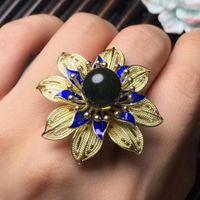 jóias de pedras preciosas venda por atacado-Fine Jewelry Real 925 Sterling Silver S925 Natural Azul Opala Gemstone Conjunto de Jóias Femininas para Mulheres Conjuntos Finos