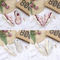 zapatos de niño juvenil talla 12 al por mayor-Adidas Yeezy 800 Blush Rat kids Zapatillas de running Utility Pink Beige Baby boy boy Toddler Youth trainers Zapatillas de deporte para niños talla 28-35