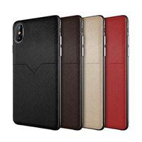 células xiaomi al por mayor-Nuevo Estuche de cuero Estuche para teléfono celular Ranuras para tarjetas de crédito para iphone XR XS MAX X 6 7 8 Plus S8 S9 S10 Plus Nota 8 9 Funda Huawei Xiaomi