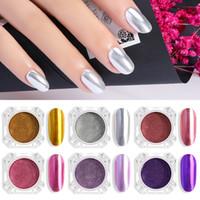 Shiny Mirror Powder Nail Art Glitter Chrome Pigment Powder Gold Silver Rose Manicure Mirror Nail Gel Polish Glitter Dust I033