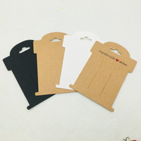 Wholesale pp clip resale online - 50pcs cm Paper Hairpin Cards Handmade With Love Jewelry Packaging Cards Woman Hair Clip Displays Cards