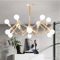 moderno salón de araña al por mayor-Vintage Modern LED de la lámpara de araña Lustre E27 Salón del accesorio para la cocina del restaurante Lámparas LED Luces Fixture