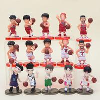 coleção pvc japão venda por atacado-15 pçs / lote Slam Dunk Figuras Japão Anime Pvc Action Figure Brinquedos Modelo Estatueta Coleção Y19062901