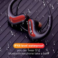 Wholesale mp3 player earphone ipx8 for sale - Group buy Bluetooth Wireless Earphones IPX8 Waterproof Professional Swimming Headphone Sports Earbuds Headset Stereo G MP3 Player