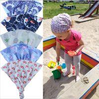 Wholesale india headwear resale online - Unicorn Baby Hats Flamingo Girls Knot Turban Kids India Print Skull Caps Beanie Toddler Fashion Headgear Headwear Headcloth Head Wraps B5895