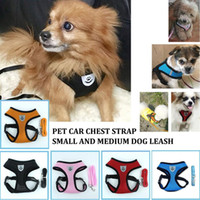 Wholesale vest harness small dog for sale - Group buy Adjustable Dog Harness Puppy Pet Dogs Vest Car Running Small Medium Large Padded Adjustable Pet Puppy Dogs Soft Vest