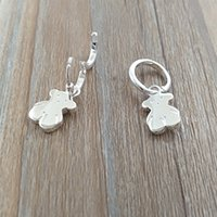 Wholesale jewelry dolls for sale - Group buy Bear Jewelry Sterling Silver earrings Pendientes Sweet Dolls De Plata Fits European Jewelry Style Gift