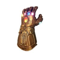 Wholesale party dress gloves resale online - Infinity War PVC Light Up Gloves Electronic Fist Halloween Cosplay Props Light Up Glove Child Dress up Party Costume Supplies HH9