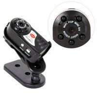 ip cams recorder оптовых-Q7 Мини-камера 480P Wifi DV DVR беспроводной P2P IP Cam новый мини-видеорегистратор инфракрасный ночного видения небольшой видеокамеры