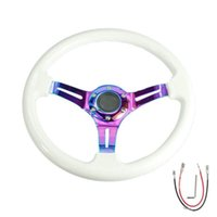 ingrosso volanti in cromo-350mm ABS Deep Dished Racing Drifting Multicolore volante 14 '' Neo Chrome Nero Bianco Set