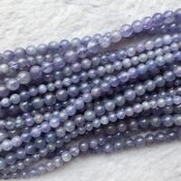Natural Genuine Tanzania Dark Blue Tanzanite Semi-precious Stones Round Loose Beads 8mm 05322 Jewelry & Accessories Beads