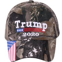 Wholesale camo army baseball hats for sale - Group buy Donald Trump Cap Camouflage USA Flag Baseball Caps Keep America Great camo Hat D Embroidery Star Letter Camo Army