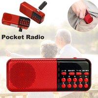 usb şarj edilebilir hoparlörler toptan satış-Mini Taşınabilir İncil Radyo FM Hoparlör USB TF MP3 Müzik Çalar Şarj Edilebilir Dahili Yüksek Sadakat Hoparlör Ses Kulaklık Çıkışı