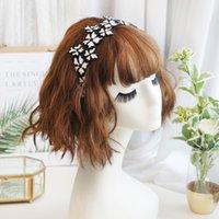 frauen besticktes stirnband großhandel-Korea Handgemachte Gestickte Haarbänder Retro Haarschmuck Haarband für Mädchen Blume Krone Stirnbänder Für Frauen