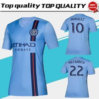 Wholesale men's rings for sale - 2019 MLS NEW YORK CITY FC Soccer Jerseys MORALEZ RING NEW YORK CITY FC Home BLUE Soccer Shirt Football Uniform Size S XXL