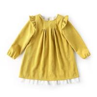robe bébé fille en velours côtelé achat en gros de-2019 enfants vêtements de marque filles tombent robes bébé velours côtelé à manches longues en dentelle robe de mode boutique pour enfants vêtements enfant fille robes