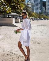 plaj örtüleri toptan satış-2020 Yeni summber Güneş kremi Kart ve Çeşitlilik Plajı Bikini Bluz ve Parlak Çiçek Desenler Kapak-Ups 3colors damla nakliye