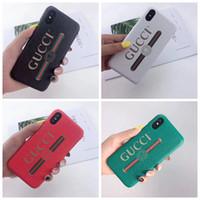 sert kapak baskısı toptan satış-19SS Marka Deri Kedi Baskı Cep Telefonu Kılıfı fro iphone X XS XR Xs Max Sert Kabuk Arka Kapak Kılıf iphone 6 6 artı 7 7 artı 8 Artı A04