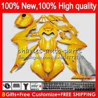 Wholesale yamaha r1 white green for sale - Group buy Body For YAMAHA YZF R CC YZF YZFR1 HC glossy golden YZF1000 CC YZF R1 YZF R1 Fairings kit