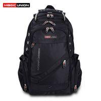 Wholesale swiss travelling bags resale online - Magic Union Brand Design Men s Travel Bag Man Swiss Backpack Polyester Bags Waterproof Anti Theft Backpack Laptop Backpacks Men Y19061204