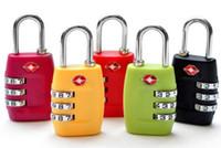 fechaduras de combinação para bagagem venda por atacado-Código de Segurança TSA Fechaduras de Bagagem 3 Dígitos Combinação Aço Padlocks Bloqueio de Viagem Aprovado para Malas de Viagem Bagagem 7 cores