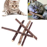 5pcs 12cm Cat Cleaning Teeth Natural Catnip Pet Cat Molar Toothpaste Stick Silvervine Actinidia Fruit Matatabi Cat Snacks Sticks