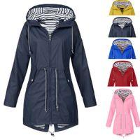 Plus Size 2XL Jackets Waterproof Hooded jacket coat women Raincoat Zipper jacket clothes bomber coat top manteau femme