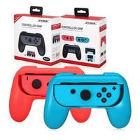mão da alegria venda por atacado-Tenazes para Nintendo Mudar Joy Con Controlador Conjunto de 2 Handle Comfort apertos de mão Kits Stand Holder Suporte Shell