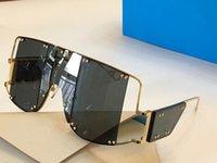 gafas de sol de protección solar al por mayor-100103 moda de Nueva Lentes de sol retro sin marco Gafas de sol estilo punky de la vendimia calidad superior de Eyewear de la protección UV400 con la caja