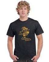 черная хлопковая кунг-фу рубашка оптовых-Китайский Monkey King Kung Fu Black T Shirt Лучшие качества хлопка вскользь Мужчины футболки Мужчины Бесплатная доставка