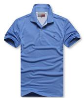 marka nakışı toptan satış-Tee T-Shirt Tasarımcılar Polo Gömlek 2019 Yüksek Sokak Nakış Baskı Giyim Erkek Markalar polo erkekler ralph ggg
