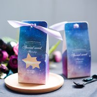 Wholesale romantic candy box for sale - Starry Sky Hollow Out Candy Box Wedding Food Romantic Dreamy Gift Boxes Blue Red Creative Bardian Packing Case jmD1