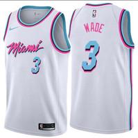 ingrosso maglie di calore-Magliette da uomo Miami New Season Heat Dwyane 3 Wade Reward Edition Baketball - Rosa