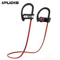gancho de micrófono al por mayor-IPUDIS 1 año de garantía Deportes Auriculares Bluetooth IPX7 Auriculares impermeables Gancho para la oreja Auriculares Auriculares inalámbricos con MIC 110mAh