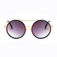 kadın s yuvarlak güneş gözlüğü toptan satış-Yaz Moda kadın Güneş Gözlüğü Renk Eşleştirme Anti-Yansıtıcı lensler Yuvarlak Güneş Gözlükleri Retro Bayanlar Sunglass