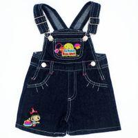 ingrosso jeans a colori per bambine-Modello adorabile Colore casuale Neonati Ragazze Bavaglino Jeans Tute Pantaloni fionda Pantaloni in denim per bambini Pantaloni di marca Abbigliamento per bambini